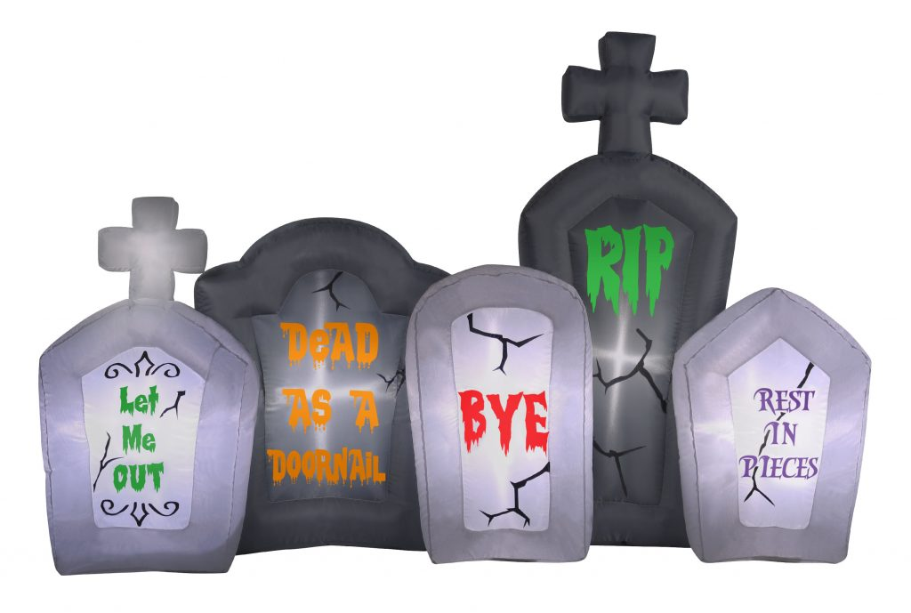 Inflatable Tombstone Scene