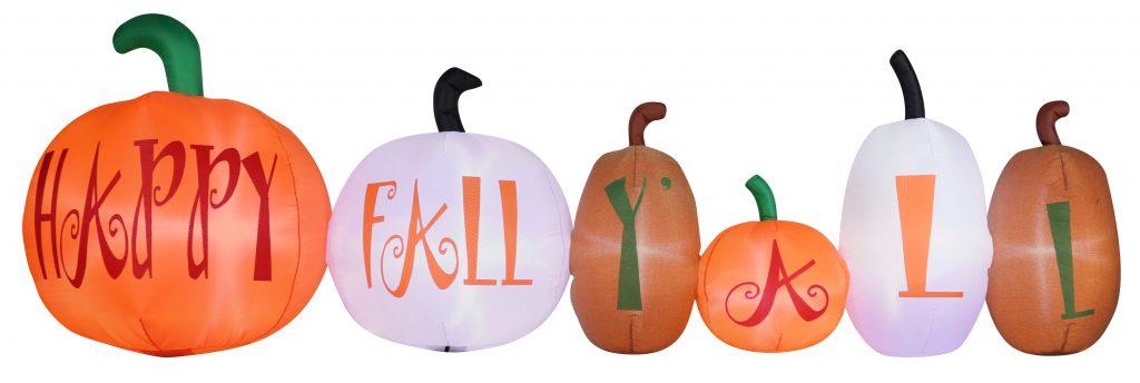 Inflatable Burlap Pumpkin Scene